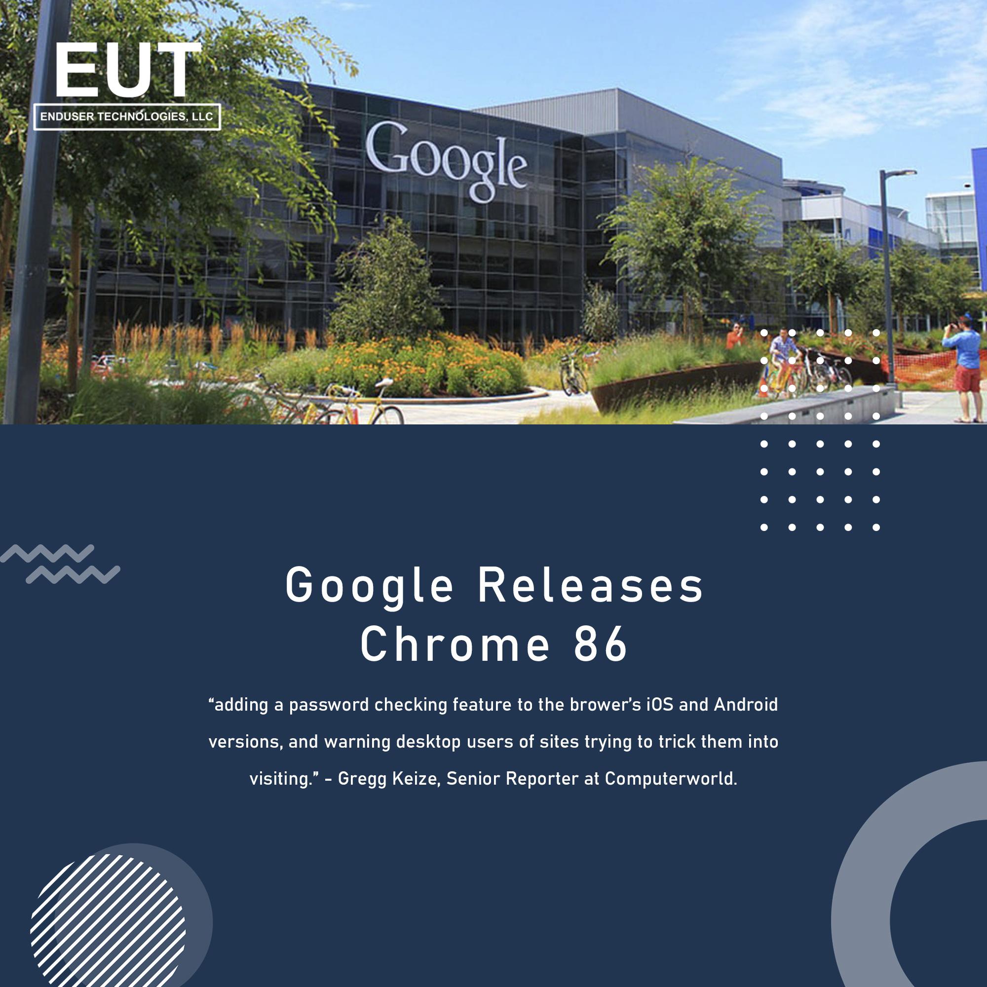 Google Releases Chrome 86