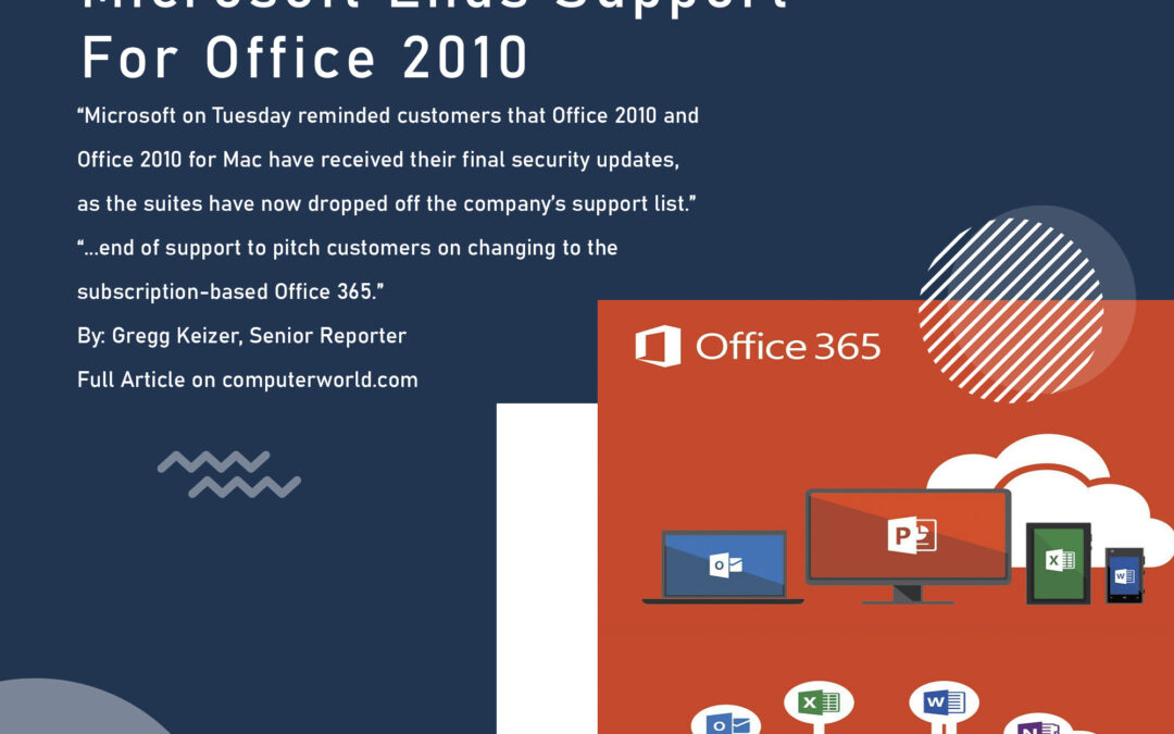 Microsoft ends support for Office 2010